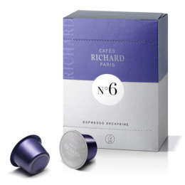 Étui de 24 capsules Richard Premium Espresso Décaféiné N°6 pour machine Ventura