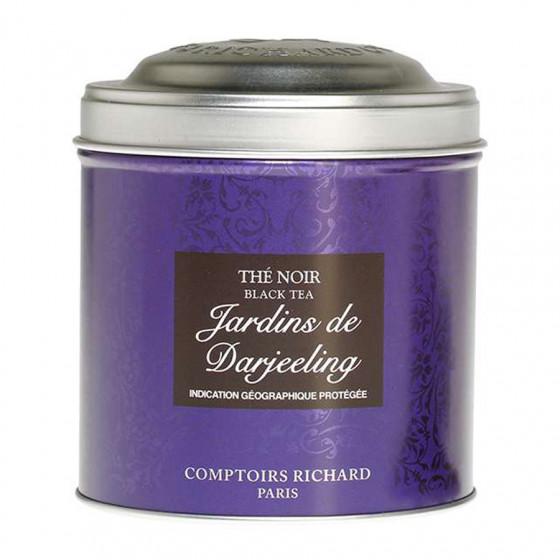 Thé noir aromatisé Jardins de Darjeeling boîte métal vrac 100g