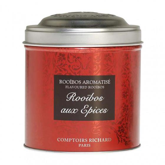Rooïbos aromatisé aux épices boîte métal vrac 100g