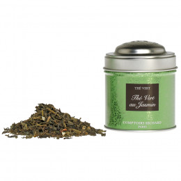 Thé vert aromatisé au Jasmin boîte métal vrac 25g