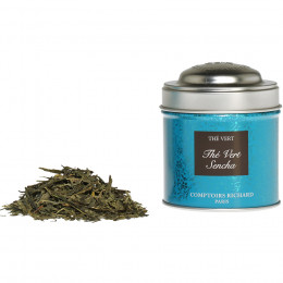 Thé vert aromatisé Sencha boîte métal vrac 25g