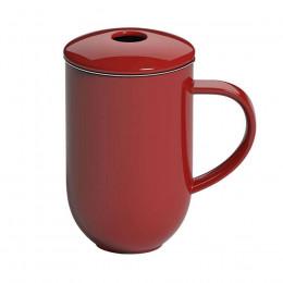 Tisanière porcelaine et son infuseur métal Loveramics rouge 45cl