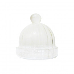 Mini cloche d'assiette cadeau striée