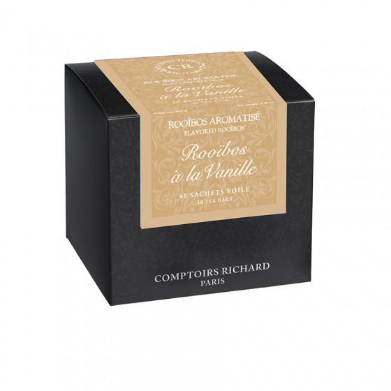 Rooïbos aromatisé à la vanille sachets voile x40 sachets voiles suremballés