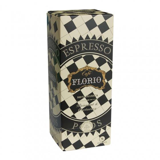 Étui de 25 dosettes ESE Assemblage Florio café 100% arabica
