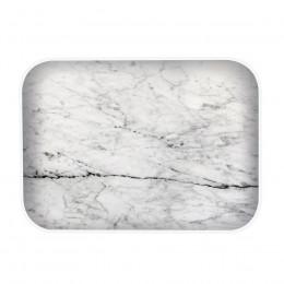 Plateau rectangulaire imitation marbre gris 28x20cm