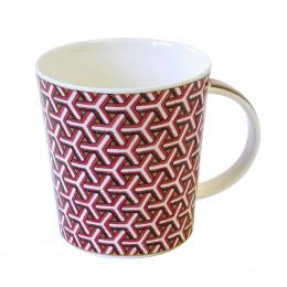 Mug Dunoon porcelaine fine Lomond Samarkand rouge 35cl