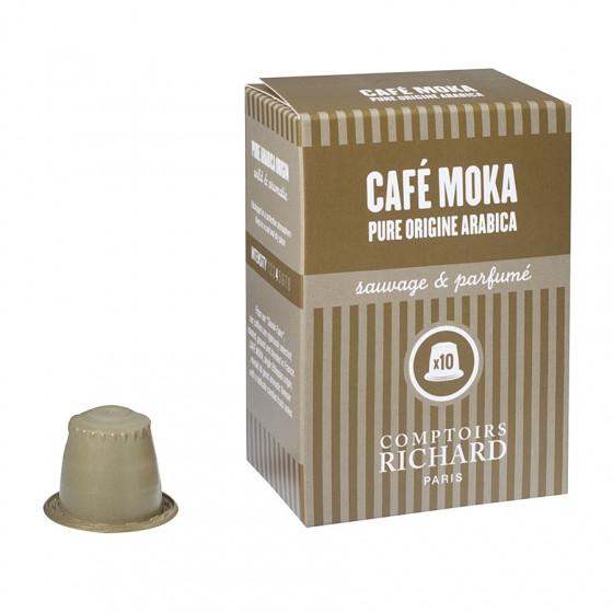 Étui de 10 Capsules compatibles pure origine arabica Moka