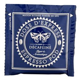 Étui de 25 dosettes ESE café décaféiné 100% arabica