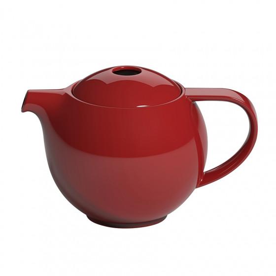 Théière ronde porcelaine rouge Loveramics 0.9L