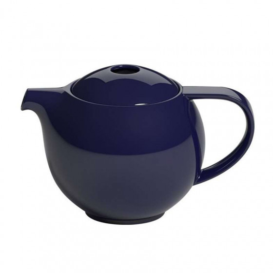 Théière ronde porcelaine bleu marine Loveramics 0.9L