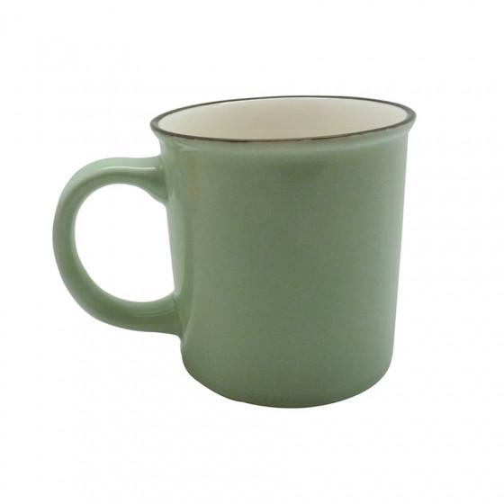Grand Mug vintage vert 70cl