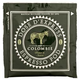 Étui de 25 dosettes ESE café pur arabica de Colombie