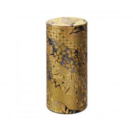 Boîte à thé dorée à motifs 200g