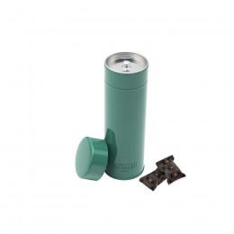 Boîte métal laquée à thé verte garnie d'oursons guimauve 80g