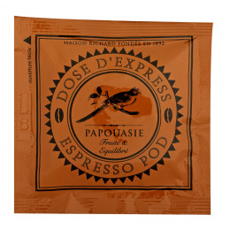 Étui de 25 dosettes ESE café pur arabica de Papouasie