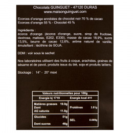 Chocolats mendiants noisettes et cranberries assortis 100g