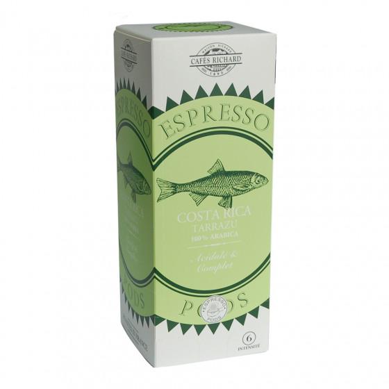 Étui de 25 dosettes ESE café pur arabica du Costa Rica