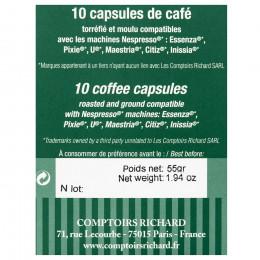 Étui de 10 Capsules compatibles café Finca 100% arabica