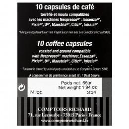 Étui de 10 Capsules compatibles café serré