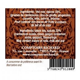 Thé noir aromatisé Chaï x15 sachets voiles suremballés