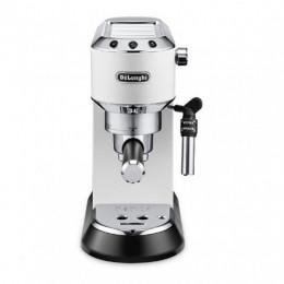 Robot café De'Longhi Dedica EC695W blanc et 1 boîte de 25 dosettes ESE Perle noire offerte