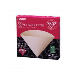 Filtres papier dripper V60 1/6T x40