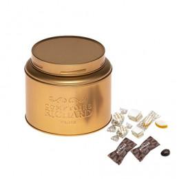 Boîte gourmande cuivrée garnie de confiseries 150g