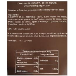 Etui Cacaotines noisettes amandes chocolat 150g