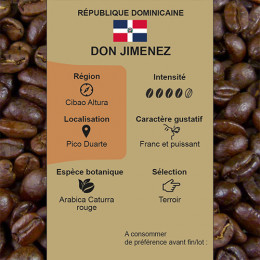 Café torréfié République Dominicaine Don Jimenez Estate région de Cibao Altura