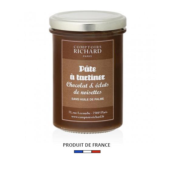 Pâte à tartiner au chocolat et aux éclats de noisettes 240g