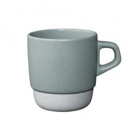 Mug empilable gris en porcelaine 32cl
