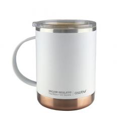 Mug isotherme de couleur blanc acier 36cl Asobu