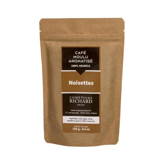 Café moulu Moka aromatisé aux noisettes 125g
